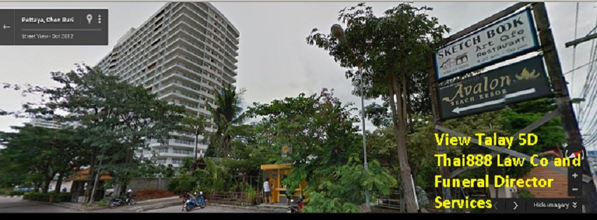 street view of Thai888 law office in View Talay condo 5d theppraya rd jomtien. turn left into car park just before sketchbook