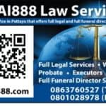 business of thai888 law company office contact details for website scan card to take you there for for information contacts