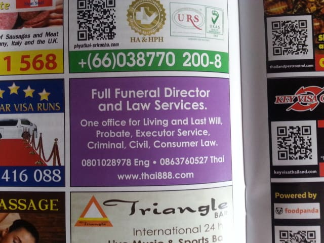 business in Pattaya funeral director services Chonburi with legal assistance from thai888 law company what do i do if death